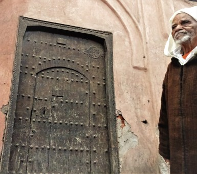 old man and door